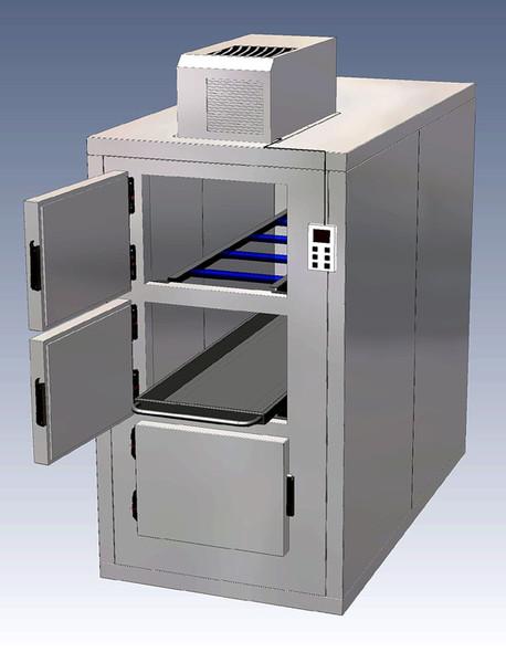3 cadavers refrigerator