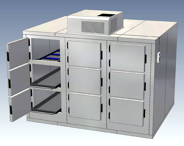 9 Cells / 9 Cadavers Mortuary refrigerator - freezer