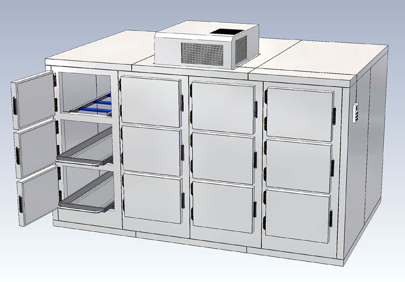 12 mortuary refrigerator