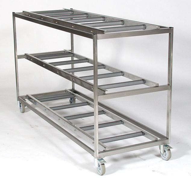 mortuary mobile shelf