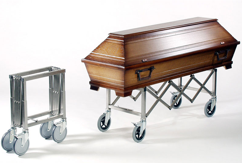 extendable mortuary trolley