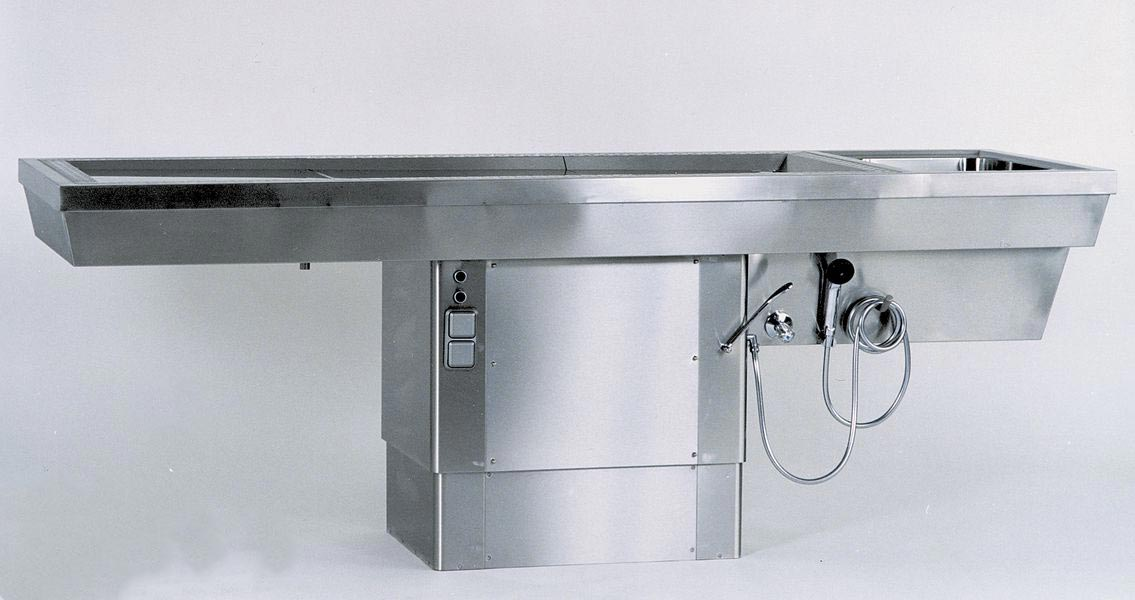 AUTOPSY TABLE ATV-260 V height adjustable with integrated down-draft system